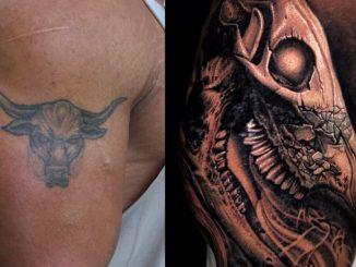rock dwayne johnson tattoo new brahma bull