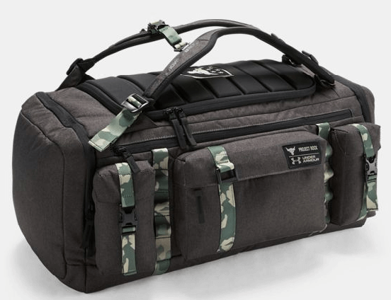 the rock gear UA x Project Rock USDNA Range Duffle bag for sale on ebay.com