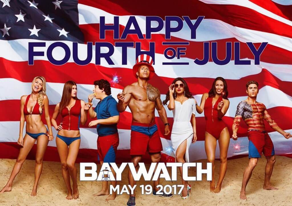 the rock gear calculates dwayne johnson's movie grosses from 2017. baywatch placed third out of three movies.