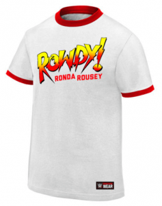 the rock gear has rhonda rousey wrestling shirts for sale! click image to buy on ebay from the official wwe store.