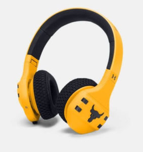 therockgear.com has limited edition steeltown gold color in project rock headphones available for sale. click the image to buy now on ebay.com.