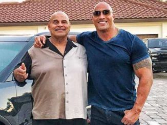Rocky Johnson with his son Dwayne Johnson.