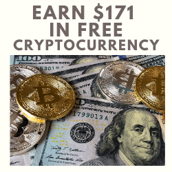 earn one hundred and seventy one dollars in free cryptocurrency on coinbase.com